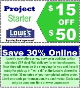 30% OFF ($15 off $50) Lowe's Email & uprint Exp 01-28-17