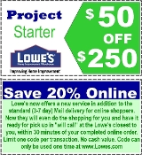 20% OFF ($50 off $250) Lowes Emailed & uprint Exp 01-28-17