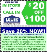20% OFF Lowes UprintD ($20 off $100) Lowe's Email Exp 6-30-17