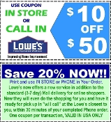20% OFF ($10 off $50) Lowe's Email/Uprint Exp 08-29-16