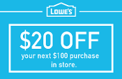 20% OFF Lowes UprintD ($20 off $100) Lowe's Email Exp 05-31-19