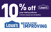 10% OFF Lowes UprintG Save Up2 $500 Email Click BULK PRICE 04/30