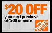 10% OFF HOME DEPOT UprintC ($20 off $200) Emailed IN STORE ONLY