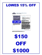 15% OFF Lowes UprintG ($150 off $1000) Emailed Exp 10-21-2019
