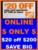 $ 10% OFF HD UprintC ($20off $200) Email > ONLY @ HomeDepot.com